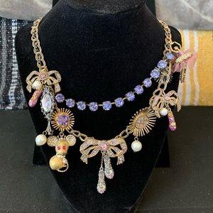 Betsey Johnson ballerina statement necklace